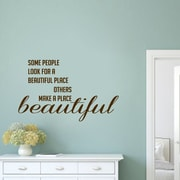 SweetumsWallDecals Make a Place Beautiful Wall Decal; Brown
