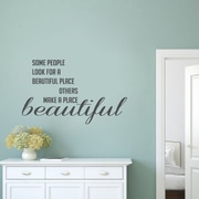 SweetumsWallDecals Make a Place Beautiful Wall Decal; Dark Gray