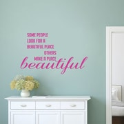 SweetumsWallDecals Make a Place Beautiful Wall Decal; Hot Pink