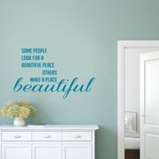 SweetumsWallDecals Make a Place Beautiful Wall Decal; Teal