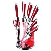 IMPQ 8 Piece Knife Set; Wine Red