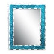 DecorShore Crackled Glass Decorative Wall Mirror