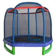 Merax Kids 7' Round Trampoline w/ Safety Enclosure
