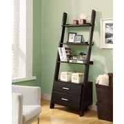 Monarch Specialties Inc. 69'' Leaning Bookcase; Cappuccino