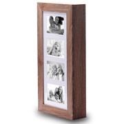 Ikee Design Wall Mounted Jewelry Armoire w/ Mirror; Wine