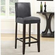 Roundhill Furniture Citylight 29'' Bar Stool (Set of 2); Gray