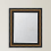 Melissa Van Hise 4.25'' Bronze w/ Black Trim Resin Frame Wall Mirror; 37'' H x 31'' W x 1.625'' D