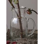 Creative Co-Op Secret Garden Round Glass Pitcher