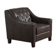 Westland and Birch Sutton Top Grain Leather Tufted Club Chair