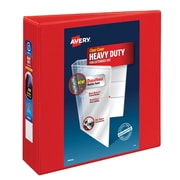 Avery Heavy-Duty 3-Inch D 3-Ring View Binder, Red (79325)