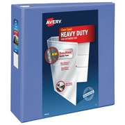 "4"" Avery® Periwinkle Heavy-Duty View Binders with One Touch™ EZD® Rings"