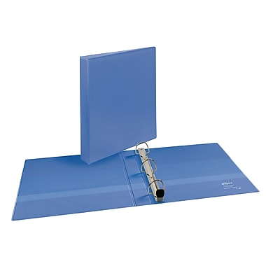 Avery Heavy-Duty EZD 1-Inch 3-Ring View Binder, Periwinkle (17582)