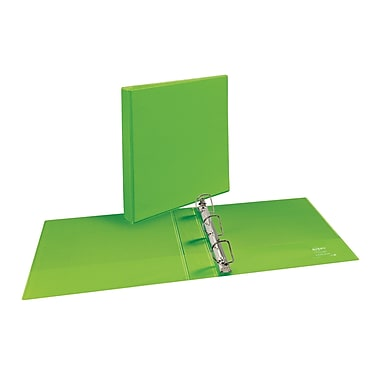 Avery Durable 1.5-Inch Slant D 3-Ring View Binder, Bright Green (34160)