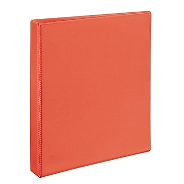 Avery Durable 1-Inch D 3-Ring View Binder, Bright Orange (34151)