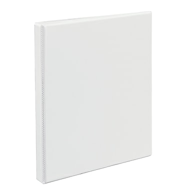 Avery Heavy-Duty .5-inch Slant 3-Ring View Binder, White (5234)