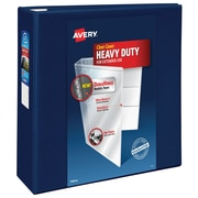 "4"" Avery® Heavy-Duty View Binder with One Touch™ EZD® Rings, Navy Blue"