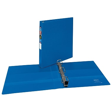 Avery Heavy-Duty 1-Inch EZD 3-Ring Non-View Binder, Blue (79-889)