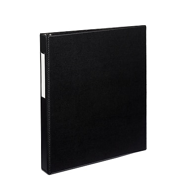 Avery Durable 1-Inch Slant D 3-Ring Non-View Binder, Black (27256)