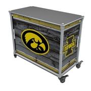 Rainmaker Imports Hawkeyes Tailgate Station Bar Cart; Barnwood