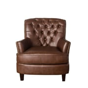 Sands Textile Starfish Leatherette Tufted Arm Chair
