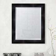 Melissa Van Hise 3.25'' Matte Black Resin Frame Wall Mirror; 35'' H x 29'' W x 1.25'' D