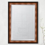 Melissa Van Hise 3.125'' Faux Walnut Veneer w/ Black Compo Edge Resin Frame Wall Mirror