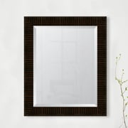 Melissa Van Hise 3.25'' High Gloss Zebra Walnut Resin Frame Wall Mirror; 35'' H x 29'' W x 1.25'' D