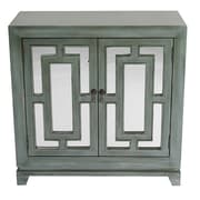 Heather Ann 2 Door Wood Cabinet w/ Mirror; Blue