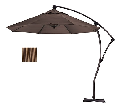 California Umbrella 9' Cantilever Umbrella; Terrace sequoia WYF078276994102
