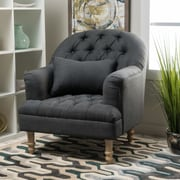 Home Loft Concepts Dolores Tufted Arm Chair; Dark Grey