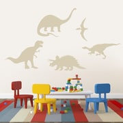 SweetumsWallDecals 5 Piece Dinosaur Wall Decal Set; Beige