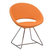 Modern Chairs USA Lunar Wire Side Chair; Faux Leather - Orange