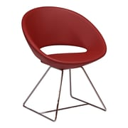 Modern Chairs USA Lunar Wire Side Chair; Faux Leather - Red