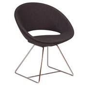 Modern Chairs USA Lunar Wire Side Chair; Wool - Dark Gray