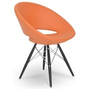 Modern Chairs USA Lunar Side Chair; Orange