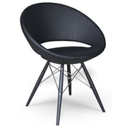 Modern Chairs USA Lunar Side Chair; Black