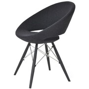 Modern Chairs USA Lunar Side Chair; Wool - Charcoal