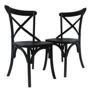 Laurel Foundry Modern Farmhouse Maxence Side Chair (Set of 2); Black