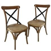 Laurel Foundry Modern Farmhouse Maxence Side Chair (Set of 2); Tan/Black