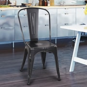 Laurel Foundry Modern Farmhouse Monette Stackable Dining Side Chair (Set of 2); Black