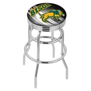 Holland Bar Stool NCAA 25'' Swivel Bar Stool; North Dakota State - Black