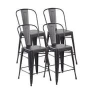 United Chair Industries LLC Counter Height Side Chair (Set of 4); Antique Black Brushing