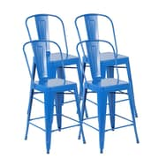 United Chair Industries LLC Counter Height Side Chair (Set of 4); Bright Deep Blue