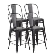 United Chair Industries LLC Counter Height Side Chair (Set of 4); Matte Black