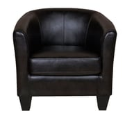 GraftonHome Ellen Bonded Leather Tub Chair; Coffee