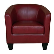 GraftonHome Ellen Bonded Leather Tub Chair; Red