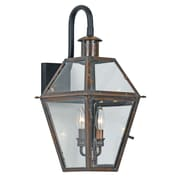 Laurel Foundry Modern Farmhouse Lois 2 Light Outdoor Wall Lantern