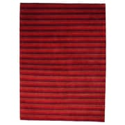 Wayfair Rugs Visby Red Contemporary Rug; 5'6'' x 7'10'' Rectangle
