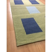 Eastern Weavers Wool Hand-Tufted Green/Blue Area Rug