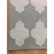 Eastern Weavers Wool Hand-Tufted Ivory/Green Area Rug